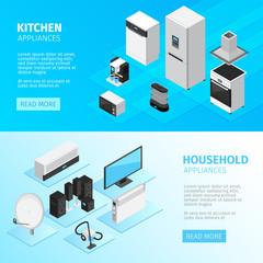 Household Appliances Horizontal Banners