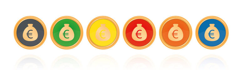 Euro - Bronze Buttons