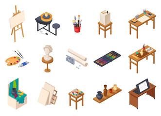 Art Studio Elements Set