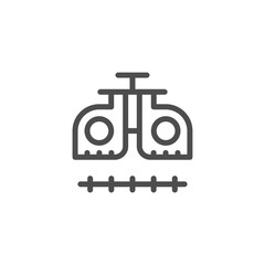 Ophthalmologic equipment line icon