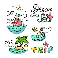 Sea trip vector illustration