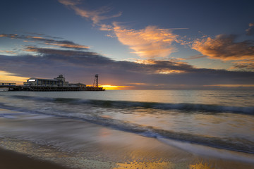 Bournemouth Beach and Pier at Sunrise