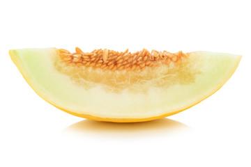 Honigmelone Scheibe geschnitten Frucht Obst Sommer Freisteller freigestellt isoliert
