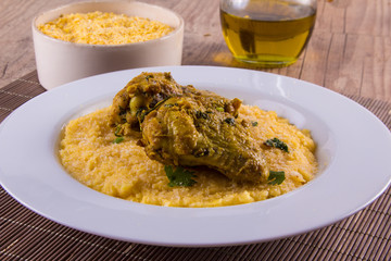 Brazilian Corn Polenta with chicken