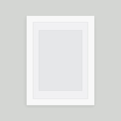 White picture frame design vector for  image or text Vector illustration EPS10