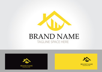 Gold home abstract logo