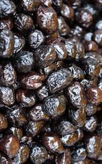 Greek black wrinkled olives.