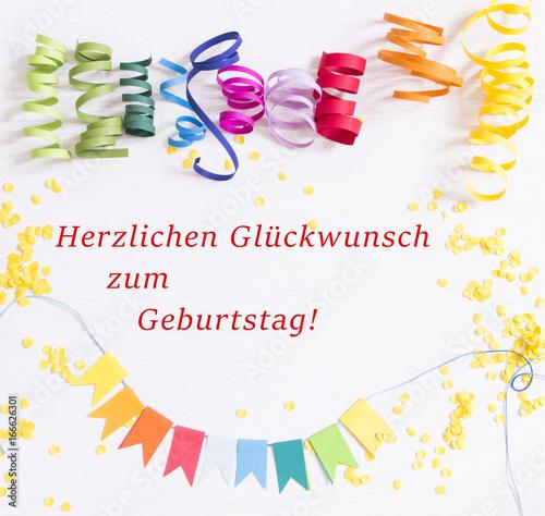 Herzlichen Glückwunsch Zum Geburtstag Stock Photo And
