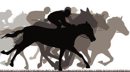 winning horse racing