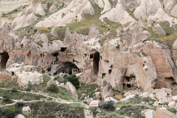 Rock Formations in Zelve Valley, Cappadocia