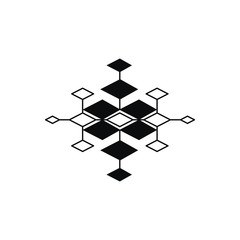 Aztec pattern in simple style