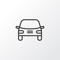 Auto Icon Symbol. Premium Quality Isolated Automobile Element In Trendy Style.