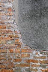 Background with the image of a brick wall