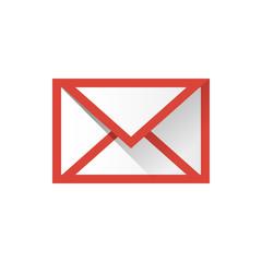 eメールアイコンのイラスト赤色