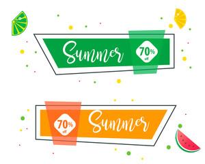 Summer Sale Design Banner for Business