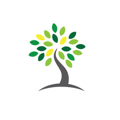 Ancestry or Genealogy Icon with Family Tree