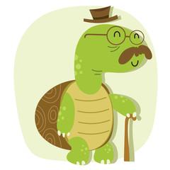 cartoon old turtle