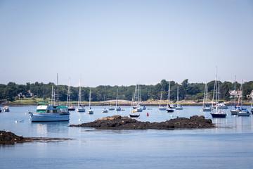 Sailboats and seascape