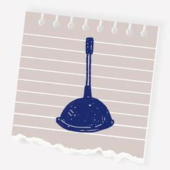 toilet plunger doodle