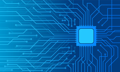 Blue  technology Motherboard wallpaper vector illustration