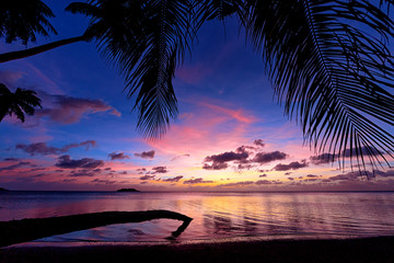 The glow of the sunset from Nimitz Beach Park, Guam