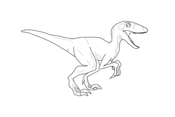 Dinosaur, Raptor, Sketch, Vector