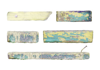 Set of wood plank isolated