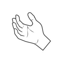 human hand icon, vector illustration