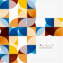 Modern geometrical abstract background circles