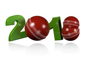 Three Cricket balls 2018 Design with a white Background
