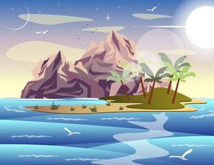 Tropical island in sea