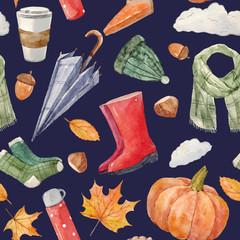 Nice autumn vector pattern