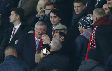 Sir Alex Ferguson in the stands
