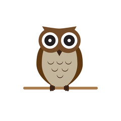 Owl brown vector