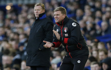 Bournemouth manager Eddie Howe and Everton manager Ronald Koeman