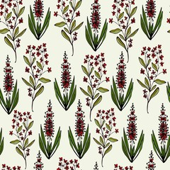 Seamless pattern with cute simple flowers. Floral ornament wrapping, Wallpaper, textile.
