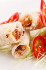 roll food wrappers