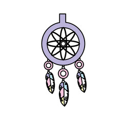 cute dream catcher with feathers design