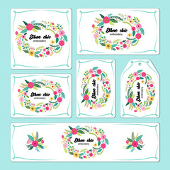 Hand drawn floral elements for branding and identity