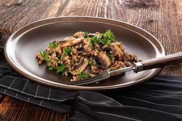Fresh buckwheat risotto.
