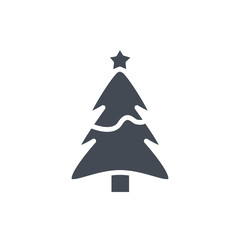Xmas Christmas holiday silhouette icon tree star