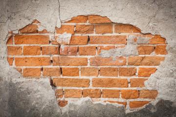 Plastered brick wall background
