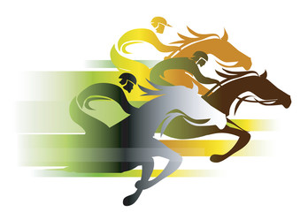 Horse Race In autumn colors.
