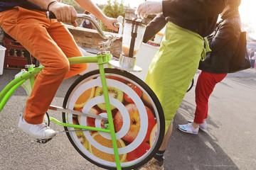 vélo écologique à smoothies