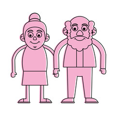 cute elderly people icon image