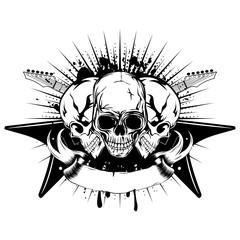 guitars skull_var 22