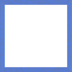 Grooved Blue Weathered Square Wood Photo Painting Picture Frame