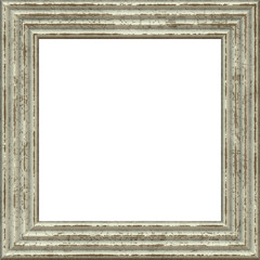 Dark White Weathered Square Wood Photo Painting Picture Frame
