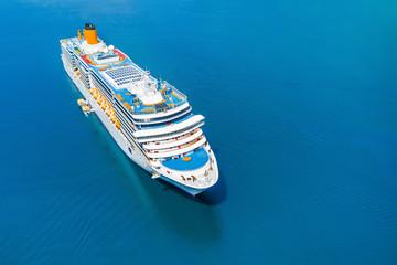 Cruise ship in the blue sea