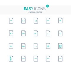 Easy icons 34e File types